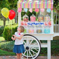 custom candy cart